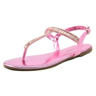 Laura Ashley Gem T Strap Sandal Youth Open Toe Synthetic Pink Thong Sandal
