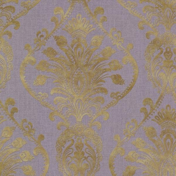 Brewster 2665 21459 Noble Purple Ornate Damask Wallpaper