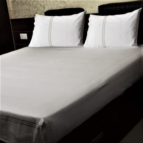 Just Linen 300 TC Egyptian Cotton Genuine Jacquard Damask Sheet Set