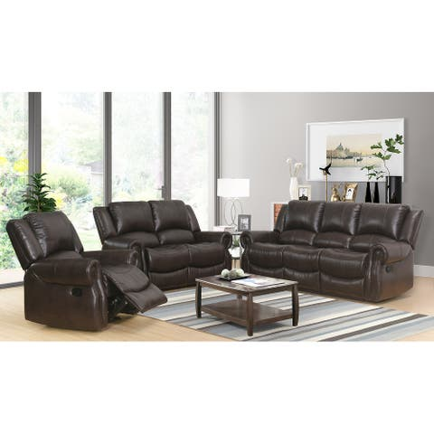 Abbyson Bradford Manual Reclining Sofa Set