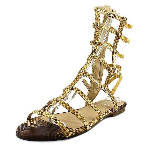 G.C. Shoes Low Rise Women Open Toe Synthetic Gladiator Sandal