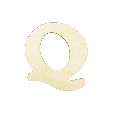 9181-q darice wood shape unfin letter 4 25 q