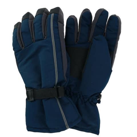 Grand Sierra Men's Tusser Ski Glove With Stiped Design