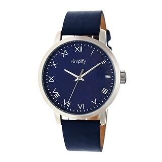 Simplify The 4200 Unisex Quartz Watch, Genuine Leather Band