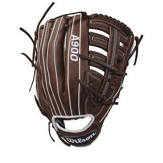 "Wilson 12.5"" A900 Baseball Glove (Dark Brown/White/ Right Hand Throw)"