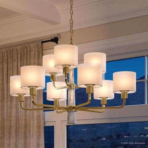 """Luxury Cosmopolitan Chandelier, 25""""H x 36""""W, with Transitional Style, Palladian Gold Finish by Urban Ambiance"""