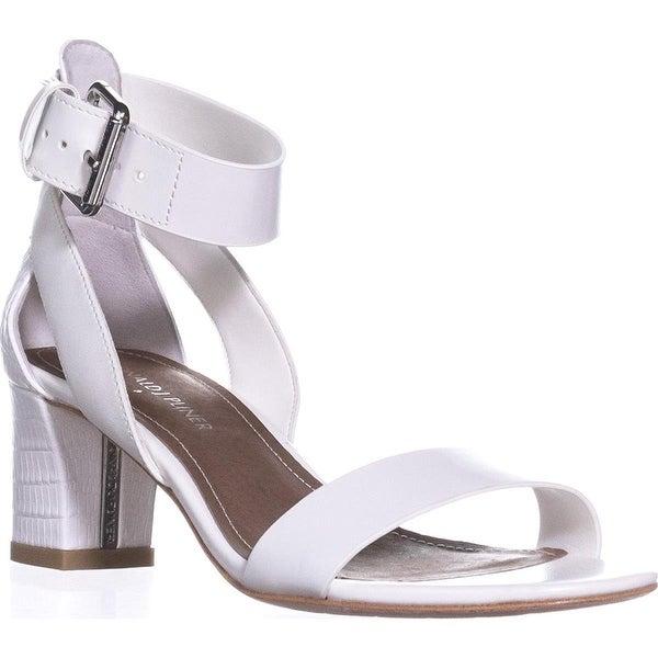 Donald J Pliner Farah Open Toe Kitten Heel Pumps - White - 5