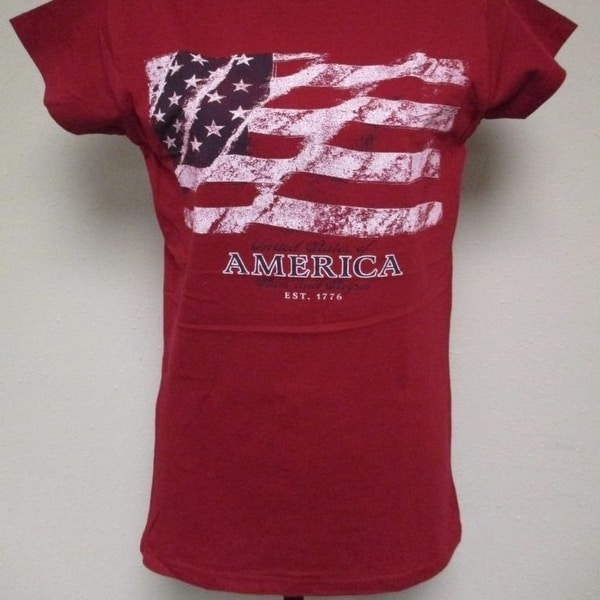 Shop Patriotic USA United State of America 1776 Womens Sizes S-M-L