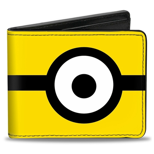 Minion Eye Yellow Black White Bi Fold Wallet - One Size Fits most