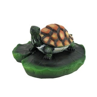 Turtle on Lily Pad Floating Pool or Pond Ornament