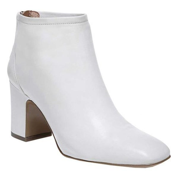 8a01a8c0f3ea Sarto by Franco Sarto Women  x27 s Jacoby Block Heel Bootie Putty Foulard  Leather