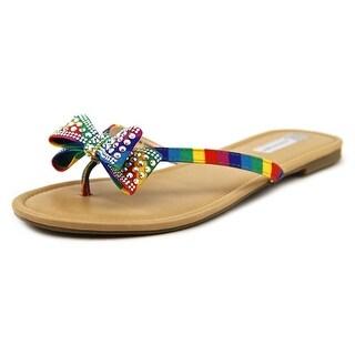 INC International Concepts Malissa Open Toe Canvas Thong Sandal