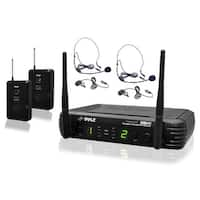 Pyle UHF mic system 2 body packs 2 head sets