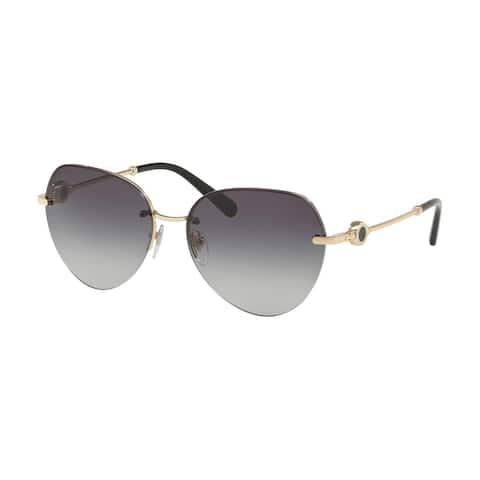 Bvlgari BV6108 278/8G 58 Pale Gold Woman Pilot Sunglasses