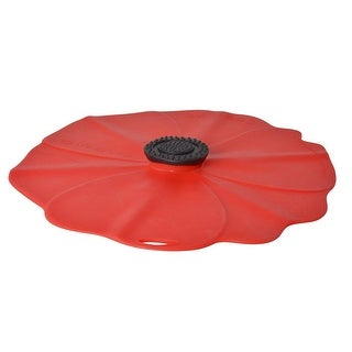 "Charles Viancin 2901 Large Poppy Lid, 11"", Red"