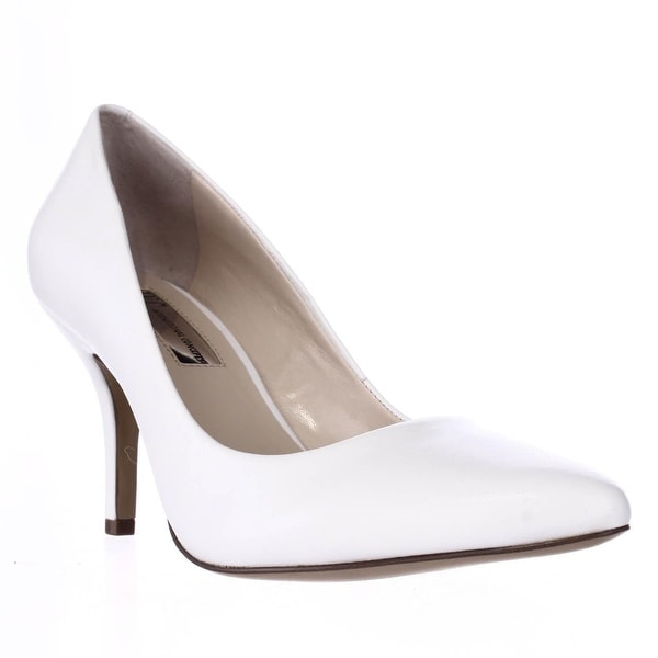 I35 Zitah Classic Pointed Toe Pump Heels, Bright White