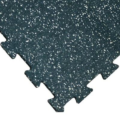 "Goodyear ""ReUz"" Rubber Tiles -- 6mm x 20"" x 20"" - Tan/White Speckle - 32 Tiles (8 x 4 Packs) - 20x20"