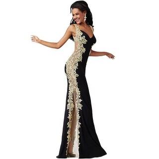 Jovani Applique Illusion Formal Dress