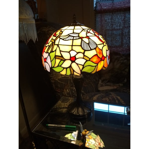 Tiffany Style Hummingbird Design 19 Inch Table Lamp Free Shipping Today 9176390