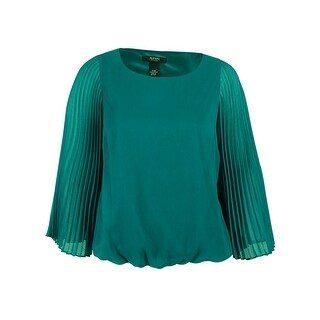 Alfani Women's Pleated Sleeve Blouse