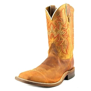 Justin Boots BR735 Men 2E Square Toe Leather Brown Western Boot