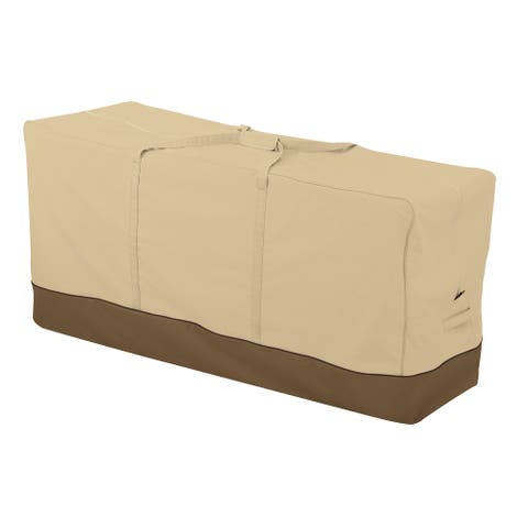 Classic Accessories Veranda Water-Resistant 60 Inch Patio Cushion and Cover Storage Bag