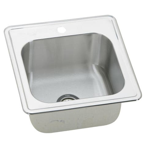 "Elkay ESE202010 Gourmet 20"" Single Basin 20-Gauge St"