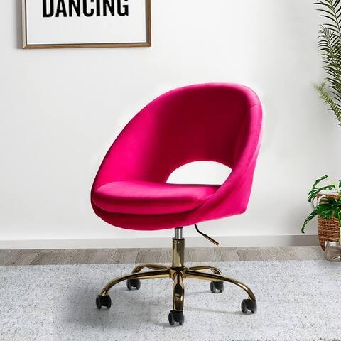 Savas Mid-century Modern Upholstered Swivel Task Chair