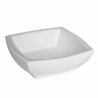 Bathroom Vessel Sink White China Metro Square