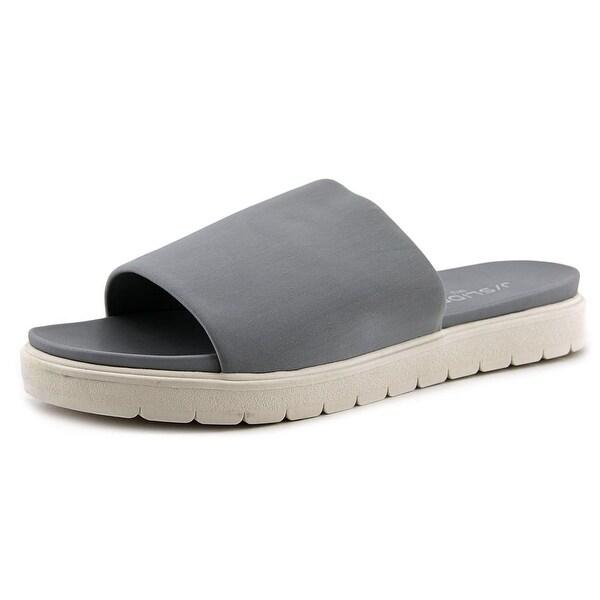 J/Slides Shelly Women Open Toe Synthetic Gray Slides Sandal