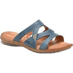 B.O.C Womens Tepati Leather Open Toe Casual Slide Sandals