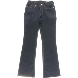Two by Vince Camuto Womens Flare Jeans High Waist Dark Wash