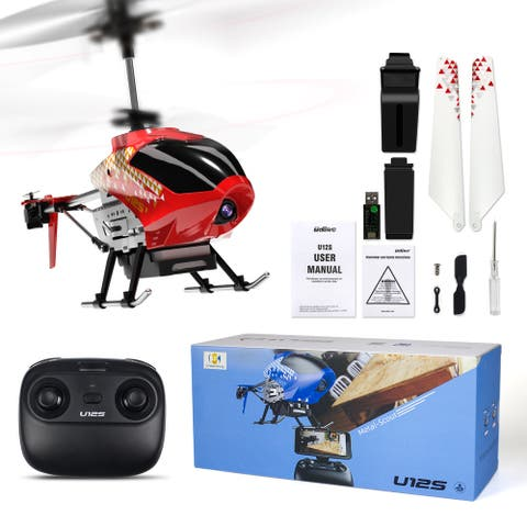 Cheerwing U12S RC Helicopter ,with Camera ,FPV Multiplayer Remote Control Alloy Helicopter Aircraft Airplane Toys
