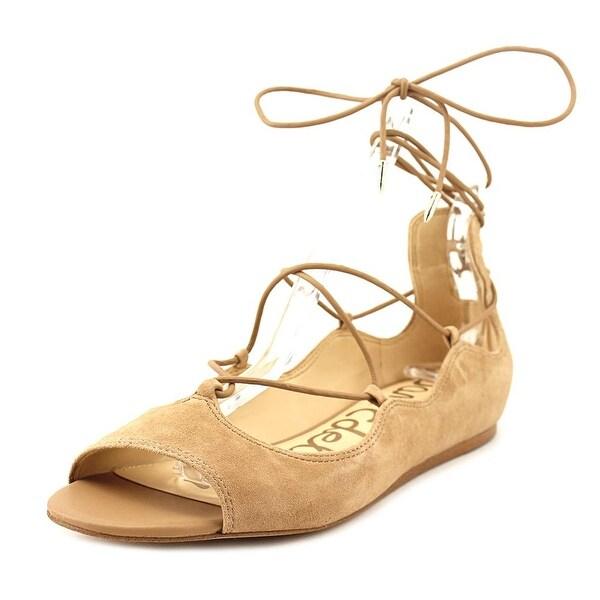 46573c279549 Shop Sam Edelman Barbara Women Open-Toe Suede Brown Flats - Free ...