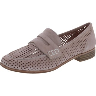 G.H. Bass & Co. Womens Ellie Loafers Perforated Slip On