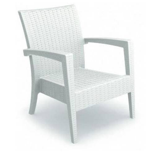 Miami Resin Club Chair Finish: White