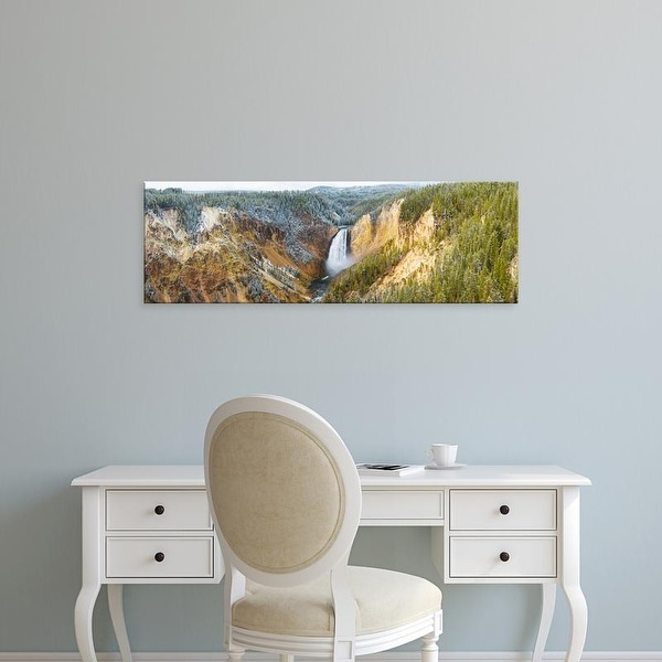 Easy Art Prints Panoramic Images's 'Lower Falls from Artist Point, Yellowstone National Park, Wyoming, USA' Canvas Art