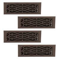 4 Floor Heat Register Louver Vent Steel 5 3/4 x 11 3/4 Duct   Renovator's Supply