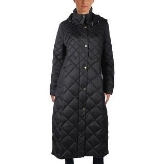 Ellen Tracy Womens Maxi Coat Winter Down
