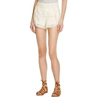 Aqua Womens Shorts Pull On Lace