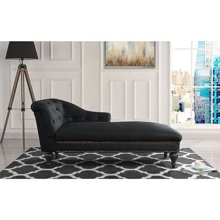 Link to Elegant Victorian Inspired Chaise in Microfiber Velvet Similar Items in Living Room Chairs