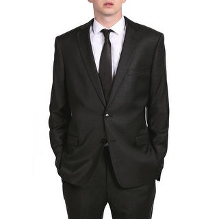 Versace Collection Men's Solid Two-Piece Wool and Viscose Suit Dark Grey