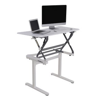 "FlexiSpot 47"" Height Adjustable Standing desk, Full Size Wide Stand up desk (MS1W-White)"