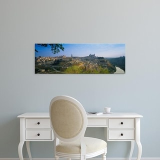 Easy Art Prints Panoramic Images's 'Aerial View Of A City, Toledo, Spain' Premium Canvas Art