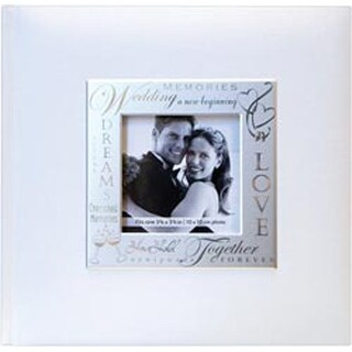"Wedding - White - Fabric Expressions Photo Album 8.5""X8.5"" 200 Pockets"