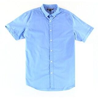 Michael Kors NEW Blue Mens Size XL Short Sleeve Button Down Shirt