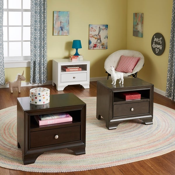 Malik 1-Drawer Nightstand with USB Powerstrip by iNSPIRE Q Junior. Opens flyout.