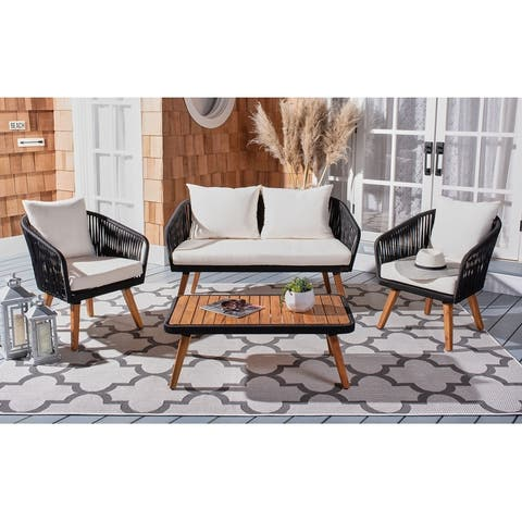 Safavieh Outdoor Ransin 4-Piece Patio Set
