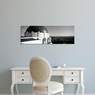 Easy Art Prints Panoramic Image 'Observatory, cityscape, Griffith Park Observatory, Los Angeles, California' Canvas Art