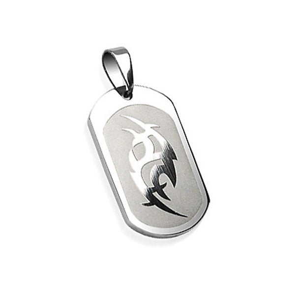 Stainless Steel Tribal Engraved Pendant (20 mm Width)